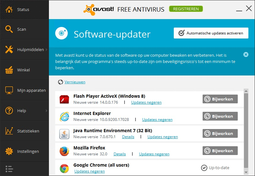 avast! Software-updater