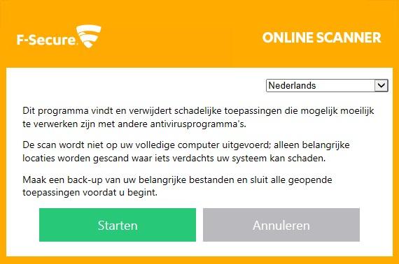 F-Secure Online Virusscan