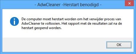 AdwCleaner-herstart