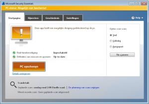 Microsoft-Securitu-Essentials-Niet-Beschermd