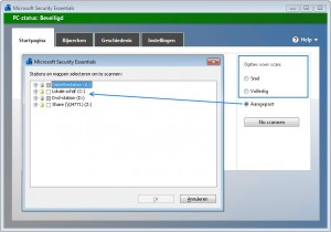 Microsoft-Securitu-Essentials-Scannen