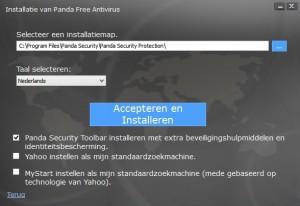 Panda-Free-Antivirus-Installeren