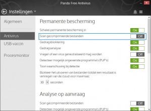 Panda-Free-Antivirus-Instellingen