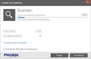 Panda-Free-Antivirus-scannen