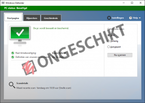 Windows Defender - Scoort Slecht